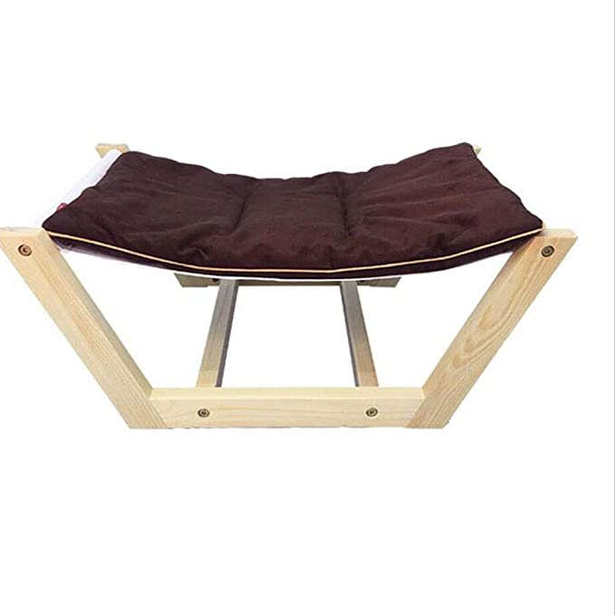 Amazon.com : YD Pet Bed -Pet Nest Solid Wood Hammock Pet Bed Dog Bed Cat Bed Washable/Pet Sofa /& (Color : Brown, Size : S) : Pet Supplies