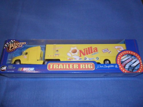 Dale Earnhardt Jr #3 Yellow Nilla Wafers Nutter Butter Hauler Trailer Rig Transporter Winners Circle 1/64 Scale 2002 Edition Metal Cab/Tractor, Trailer is Plastic by - Circle Winners Trailer
