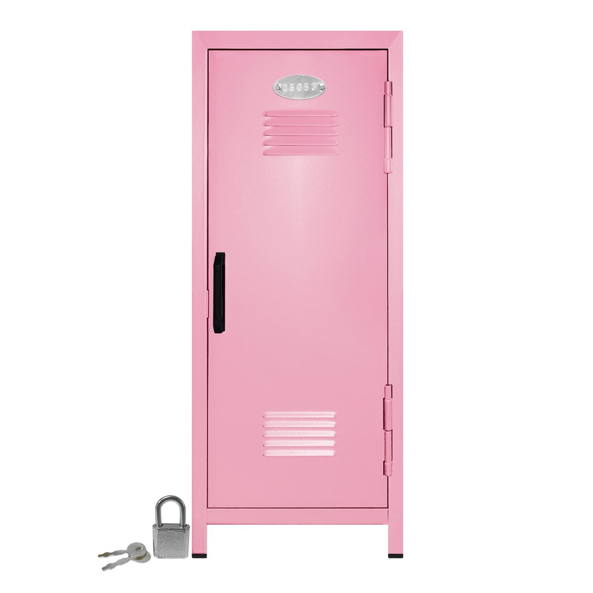 Mini Locker with Lock and Key Light Pink -10.75'' Tall x 4.125'' x 4.125'' by Mini Lockers by Magnetic Impressions