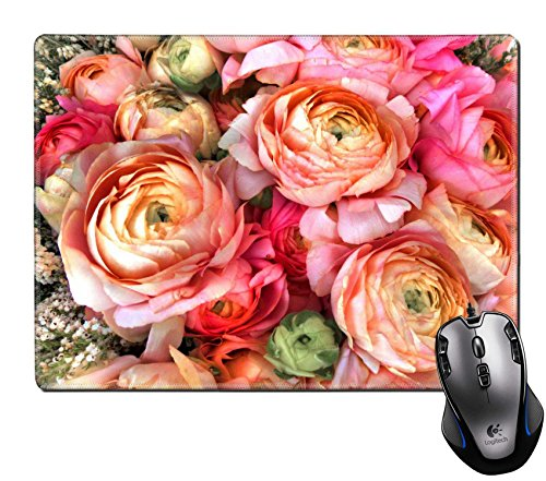 (MSD Natural Rubber Gaming Mousepad Bouquet of pink peony Floral pattern Image ID 23898219)