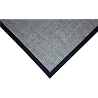 Dean Island Gray/Black Natural Sisal Hall/Entrance/Landing Slip Resistant Carpet Runner Rug 29x8