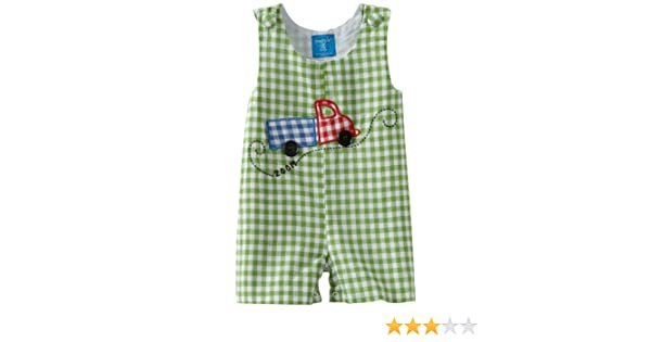 Amazon.com: Mud Pie All Boy Truck Shortall, Green/White, 0 6 Months: Infant And Toddler Rompers: Clothing