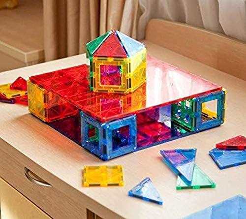 Educational 3D Magnet Blocks Building for Toddlers Kids Enhance Creativity Magnet Set Magnetics Stem Toys GIROMAG Magnet Stick and Stack 110pcs
