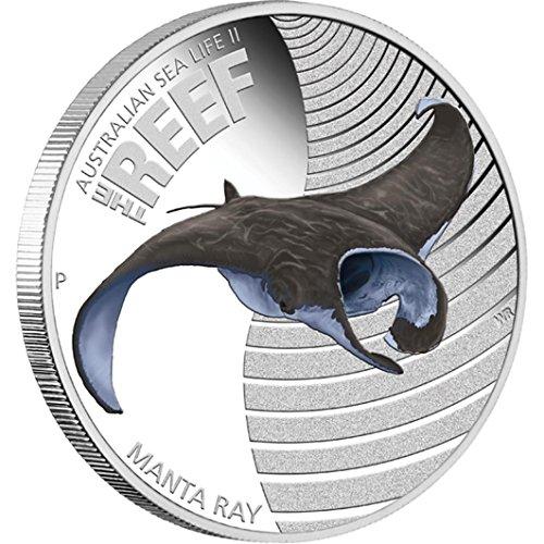 2012 Australia - Australian Sea Life II - Manta Ray - 1/2oz - 50ct - Silver Coin - - Rays Australia