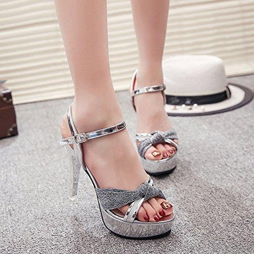 Femmes Bien Très Hautes Sandales 12Cm De Chaussures Les Chaussures Centimètres SHOESHAOGE Performances Avec Chaussures Avec 1wFqAInI