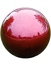 Very Cool Stuff VCS RED12 Mirror Ball 12-Inch Red Stainless Steel Gazing Globe
