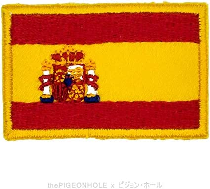 divertido con banderas.] la Rojigualda; España (rojo, amarillo) – bandera nacional sobre, Sew de hierro en parche bordado – regalo, recuerdo, coleccionable, decoración: Amazon.es: Hogar