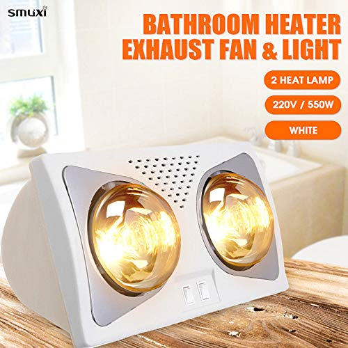 Bathroom Heat Lamp Led Ceiling Lighting Warm 380x200x220mm Wall Mounted Heating Light 2 Lights For Winter Shower Amazon Com Industrial Scientific