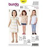 Burda Kids Blouses and Dress Easy Sewing Pattern 9417 by Burda