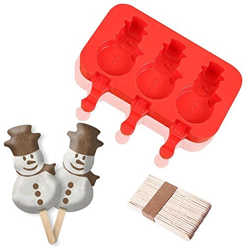 3 Capacity Silicone Popsicle Mold for Ice Cream Bar Pop