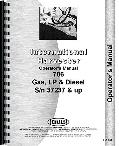 International Industrial Tractor and Tractor Operators Manual (IH-O-706)