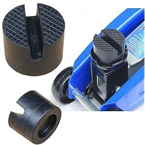 Cric de levage, Bloc en caoutchouc pour cric de levage, tampon de caoutchouc Hydraulique Solide Résistant Protéger (50mm x 37 mm)