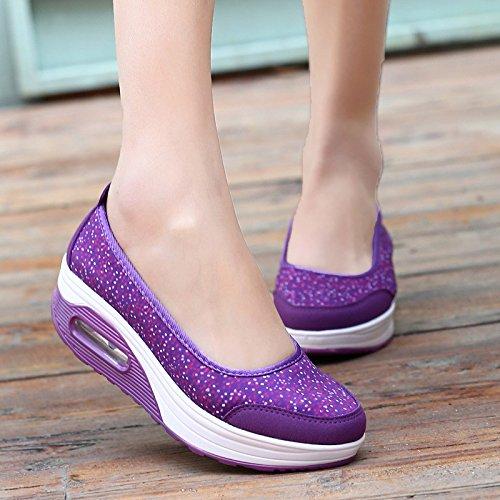 2962 De NGRDX amp;G Calzado Caliente Zapatos Plataforma Con En Mujer De Mujeres Purple Casual Transpirable Malla Impresión 1qAwSOqZ