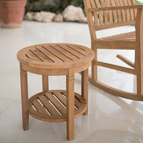 Cheap  Cambridge-Casual AMZ-180670T Arie Teak Round Side Table, Natural