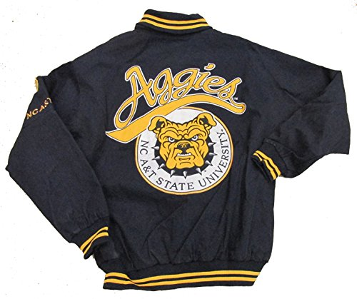 North Carolina A&T University Varsity Trimmed African American Fraternity HBCU Mens Big & Tall Jacket ()
