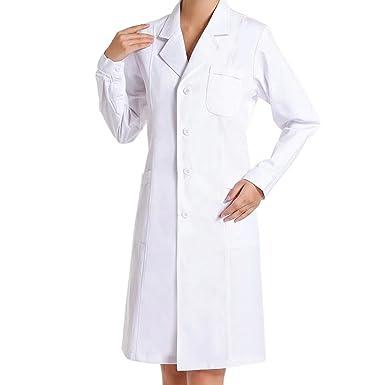 1f4189318e74b TIANLIN Camice da Laboratorio Medico Infermiere Abbigliamento Sanitario e  Divise da Lavoro Manica Lunga da Lavoro