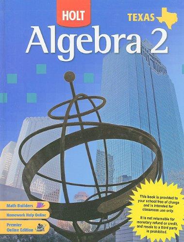 Algebra 2 Texas Edition