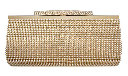 Crystal Clutch for Women Large Evening Bag (gold)