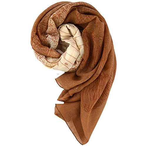 Monique Women Retro Floral Print Cotton Linen Scarf Shawl Autumn Winter Warm Scarves Wraps Shawls - Linen Prints Scarf Cotton