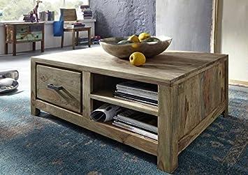 Massivmoebel24de Sheesham Massiv Holz Möbel Geölt Natur Couchtisch