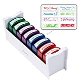 ECR4Kids Colorful Self-Inking Recognition School Grading Teacher Stamp Set and Tray (8-Piece)