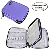 Arts & Crafts : Damero Crochet Hook Case, Organizer Zipper Bag with Web Pockets for Various Crochet Needles and Knitting Accessories, Well Made, Small Volume and Easy to Carry, Purple (No Accessories Included)