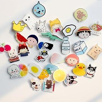 550b49d3f3e Amazon.com   9.9 pin badge badge cute cartoon fashion jewelry collar pin  brooch female soft sister   Beauty
