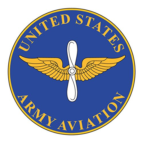 US Army - Aviation Branch Plaque - 3.5 Inch Tall Full Color Decal