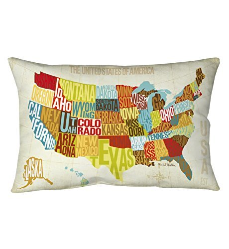 Manual Woodworkers Across The Country Pillow 18 inch x 9 inch