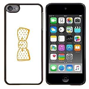 Stuss Case / Funda Carcasa protectora - Minimaliste Blanc Bow - Apple iPod Touch 6 6th Touch6
