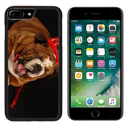 [MSD Premium Apple iPhone 7 Plus Aluminum Backplate Bumper Snap Case IMAGE ID: 4134375 english bulldog dressed up as a devil on a black] (Trick Or Treat Costumes Images)