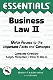 Business Law II Essentials, Research & Education Association Editors and William D. Keller, 0878917292