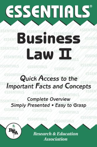 Business Law II Essentials (Essentials Study Guides)