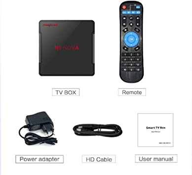 Android 9.0 TV Box, 1080P 3D HDMI Smart TV Box 4GB RAM 64GB ROM , Compatible Con