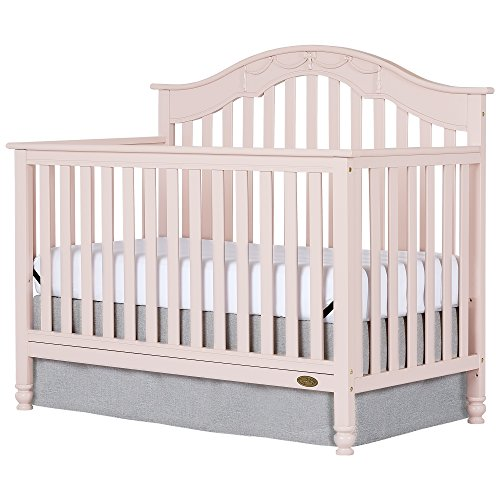 Dream On Me Charlotte 5-In-1 Convertible Crib, Blush Pink by Dream On Me