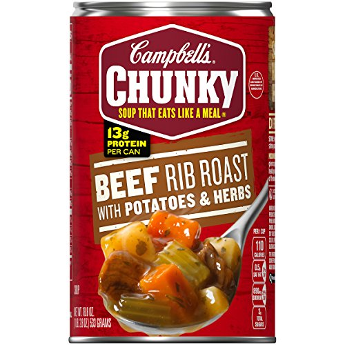 Campbell's Chunky Soup, Beef Rib Roast with Potatoes & Herbs, 18.8 Ounce (Packaging May - Soup Canned
