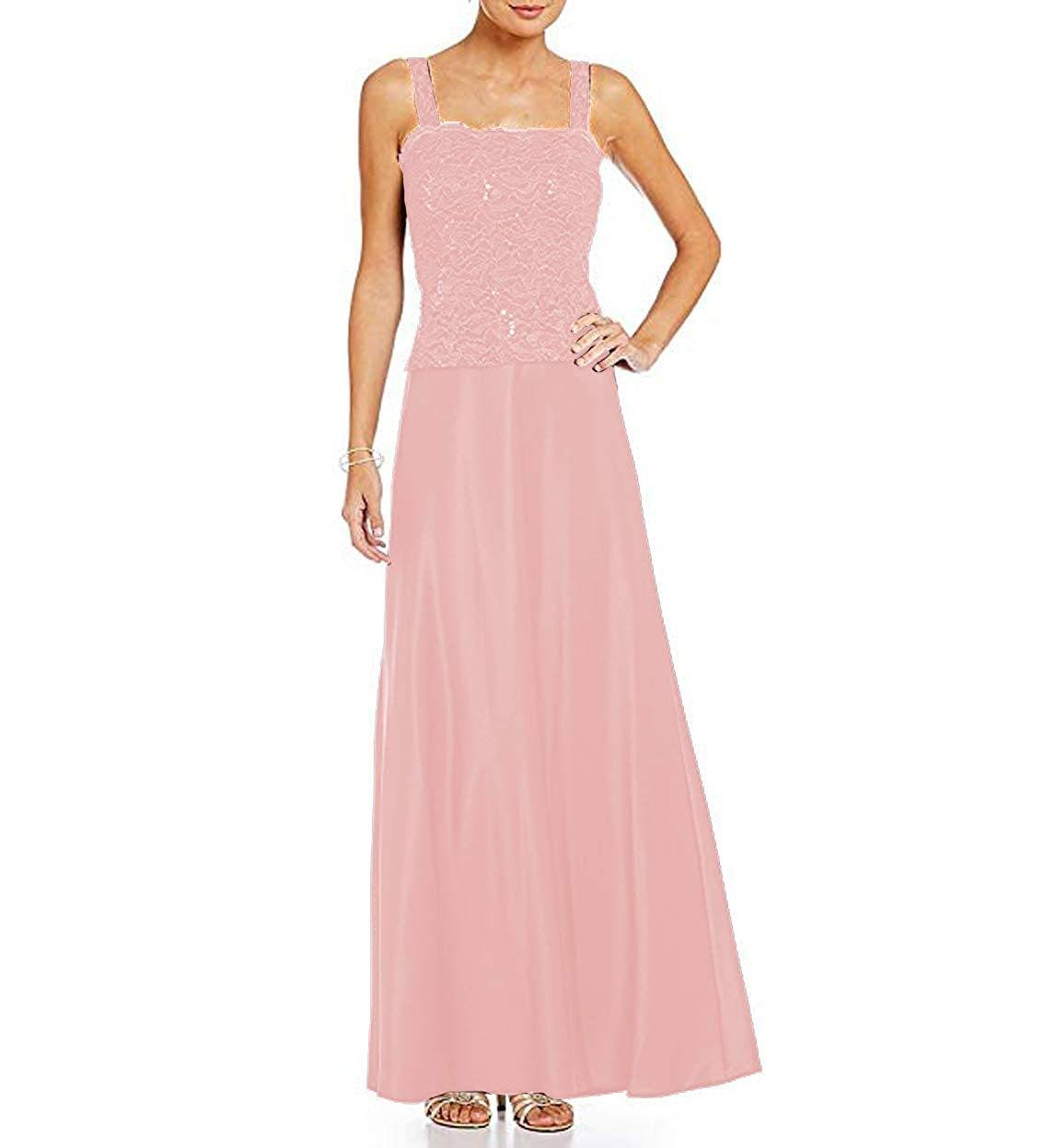 Pink Women's Satin Ankle Length Mother of The Bride Dresses with Lace Jacket Plus Size 2 Piece