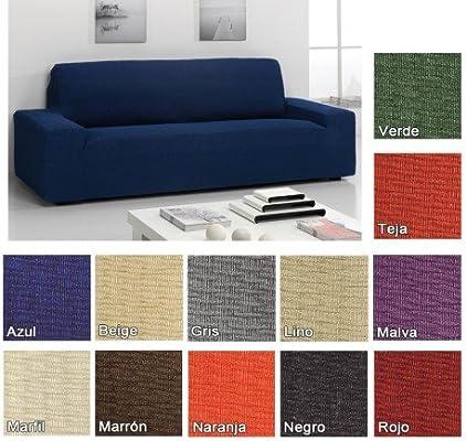 Funda Elástica Túnez para Sofá KIVIK de IKEA, Color Lino, 3 plazas