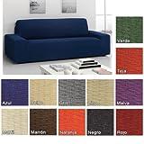 Funda Elástica Túnez para Sofá KIVIK de IKEA, Color Azul, 3 plazas