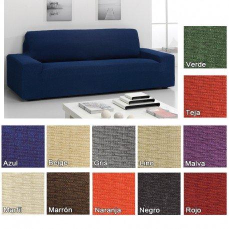 Funda Elástica Túnez para Sofá KIVIK de IKEA, Color Malva, 3 plazas