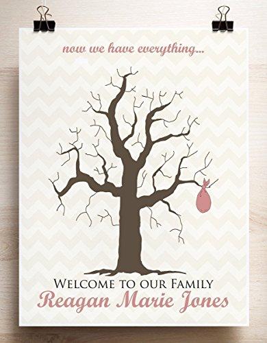 Amazon Com Guest Book Alternative Baby Shower Thumbprint Tree