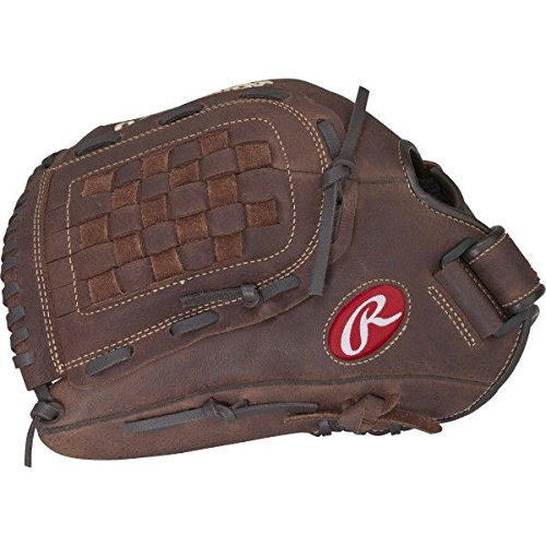 (Rawlings Player Preferred Baseball Glove, Left Hand Throw, Slow Pitch Pattern, Basket-Web, 12-1/2)