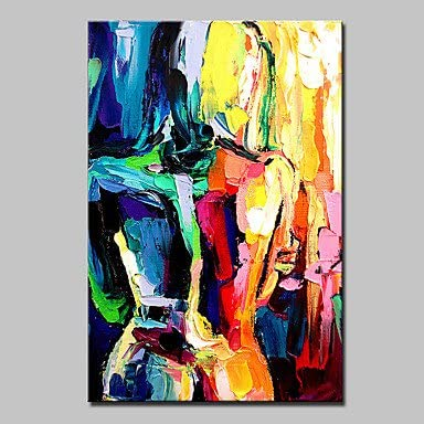 /Ölgem/älde Auf Leinwand Handgemalt,Abstrakte Bild Malen,Afrikanischen Schwarzen Frau In Rot Orange,Gr/ö/ße Der Modernen Europ/äischen Kunst Wand Dekoration F/ür Eingang Wohnzimmer Schlafzimmer B/üro,