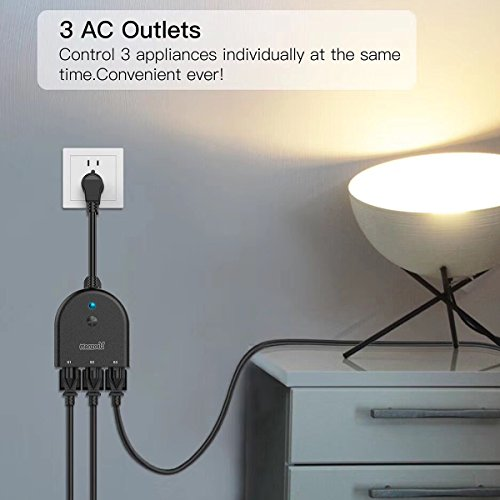 Outdoor Smart Plug Wifi Outlet with 3 Sockets Wireless