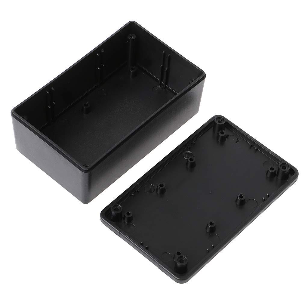 LANDUM Caja de Proyecto de Caja de Proyecto de Caja electr/ónica de pl/ástico ABS Impermeable ABS Negro 105x64x40 mm
