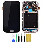 Shinningtop Novelty Replacement Digitizer and Touch Screen LCD Assembly with Frame for Samsung Galaxy S4 i337 (Blue)