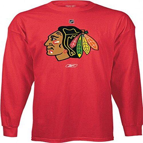 Chicago Blackhawks Reebok Long- Sleeved Logo Adult Shirt (XX-Large)