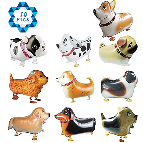 SOTOGO 10 Pieces Walking Animal Balloons Pet Dog Balloons Dog Balloon Toys Air Walkers For Kids Gift Birthday Party Decor]()