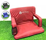 Soft Touch Extra Wide Stadium Seats for Bleachers | Stadium Chairs for Bleachers with Back Support | Bleacher Seats with Backs and Cushion ... (Aurora Red)