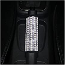 LuckySHD Car Handbrake Cover with Bling Rhinestones Pearl Car Accessories Case